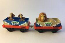 Sodor Zoo Thomas Train Diecast Metal Take Along N Play Monkey Lion Cars 2006