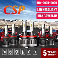 CSP 9005 + H11 + 9006 LED Headlight Hi Low Bulbs 7200W 864000LM Car Lights 6000K