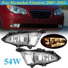 2Pcs Clear Front Bumper Fog Light Lamp For Hyundai Elantra 2007 2008 2009 2010