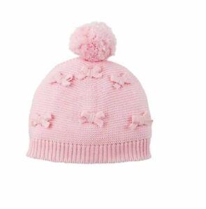 Mud Pie E1 Bundle Me Up Baby Girl Bow Knit Hat 6-18M 16010078 Choose Color