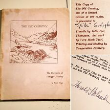 Vintage 1955  Book 📚 The Old Country, Manuscript Travel Signed Limited Edition