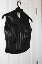 Rods Ladies Black Faux Leather Vest  Size XS