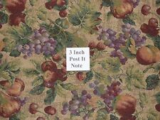 7/8 Yards Fruit Theme Grapes Multi Color Home Decor Cushion Upholstery Fabric