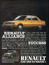 1984 vintage auto AD RENAULT ALLIANCE Gold 4dr Sedan 022116