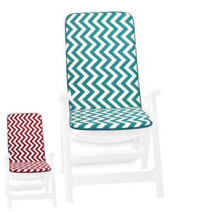 Cuscino sedia morbido a righe zig zag copri poltrona coprisedia interno esterno