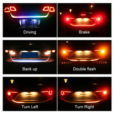 Car Motor Trunk Tail Flow LED Strip Light Reverse Brake Turn Signal Running Lamp