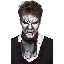Vampire 4 Colour Liquid Latex Kit Sponges Make Up Face Paint Fancy Dress