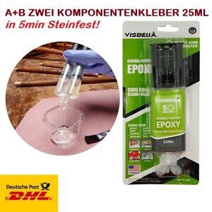 EPOXIKLEBER 2 K Epoxidharz ZWEIKOMPONENTENKLEBER Metall Stein KLEBER ALLESKLEBER