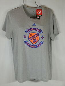 Adidas MLS Woman's T Shirt XL  FC Cincinnati Ohio Gray NWT