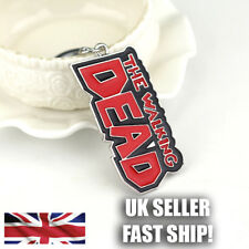 The Walking Dead Key Charm Design Metal Keyring UK SELLER FAST SHIP!