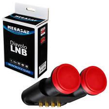 Doppel LNB DIGITAL Quad Monoblock Astra Hotbird 6,2 Grad für 3D HD 4 Teilnehmer
