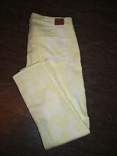 American Eagle Outfitters Skinny Stretch 30x27 Yellow Distressed Jeggings