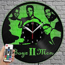 LED Clock Boyz II Men Vinyl Record Wall Clock Led Light Wall Clock 4276