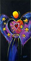 Galactic Angel Pop Art Original Painting Surreal Artist Signed Mira COA