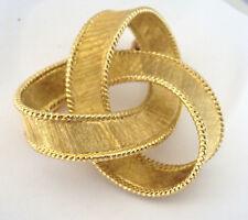 """18k Yellow Gold Pin Brooch 20.9 grams 1.75"""" Ribbon, Knot Motif"""