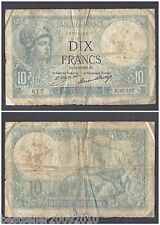 FRANCE 10 FRANCS RARE OLD BANK NOTE WITH SOME WEAR AND TEAR # 568