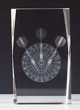 Kristallblock mit 3D-Lasermotiv (Dart), mit oder ohne Gravur.