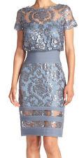 Tadashi Shoji New Sequin Embroidered Blouson Dress Size 12 MSRP $348 #JN 468