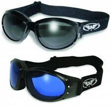 2 Cycling Goggles Motorcycle Off Road Riding Sports Racing Go cart Smoked Blue