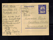 1942 Warsaw Germany Poland PF 1315 Gestapo SD Prison Cover GG General Government
