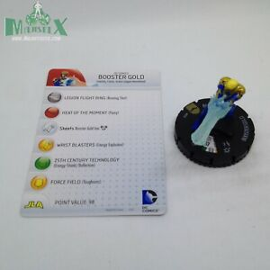 Heroclix Batman set Booster Gold #052 Super Rare figure w/card!