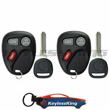 2 Replacement for 1999-2001 Chevy Silverado : Key Entry Fob Keyless Remote Set