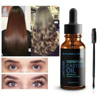 Pure Organic Castor Oil Eyelash/Eyebrow Enhancer Growth Serum Natural-10ml