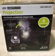 Halloween Outdoor Animated Skulls Spooky Face Projector Lightshow 71461