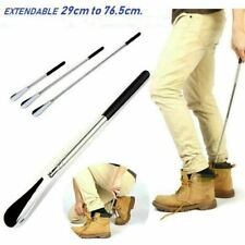 EXTENDABLE METAL SHOE HORN HANDLE LONG REMOVER HANDHELD SHOES EASY GRIP