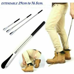 SHOE HORN EXTENDABLE METAL HANDLE LONG REMOVER HANDHELD SHOES EASY GRIP UK STOCK