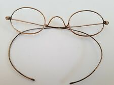 RARE Vintage Bay State Optical B.S.O 12K Gold Filled Eyeglass Frame Glasses wire