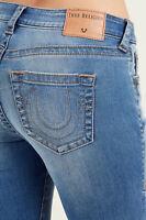 True Religion Women's Jennie Curvy Skinny Fit Stretch Jeans in Authentic Indigo