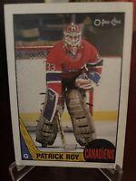 1987 O Pee Chee PATRICK ROY Card #163 * Montreal Canadiens * Very Nice Card *