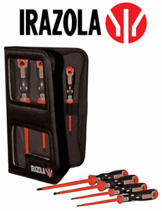 Irazola VDE 1000v Insulated Electrical Screwdriver Set 7pc (Bahco / Bacho)