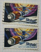 US sc#1529 Sky lab used ink color print variety overinked EFO used