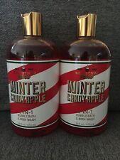 Bath & Body Works Winter Candy Apple 2-in-1 Bubble Bath & Body Wash X2