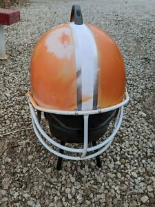 Cleveland Browns Football Helmet Metal Charcoal Grill Smoker VTG Tailgate