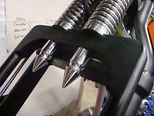 2 DNA SPRINGER CHROME BOTTOM SPIKE NUT COVERS chopper bobber custom hd