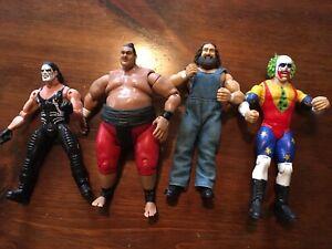 WWE Jakks Pacific Classic Superstars Action Figure Lot of 4 Vintage (Lot A)