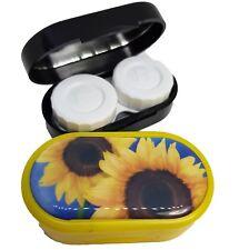 Flowers Mirror Case Contact Lens Soaking Storage Case UK MADE - Sun Flower