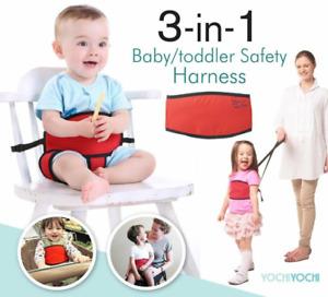 Yochi Yochi 3in1 Baby Portable Travel High Chair/ Walking Harness/ Shopping Cart
