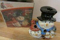 Snowmen Tea Light - Kirkland's Potter's Garden in Box