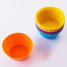 12-Pack Steadys BM-0116A Reusable Non-Stick Round Premium Silicone Baking Cups