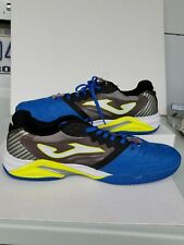 Joma Men's pro roland Indoor Soccer Shoes Blue Black Yellow Size 12.5 Sportech