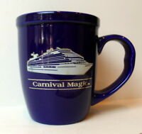 Carnival Cruiselines Magic Ship Cobalt Blue Coffee Mug