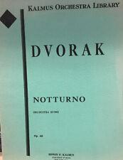 Dvorak: Notturno For Strings Orchestra. Score. New