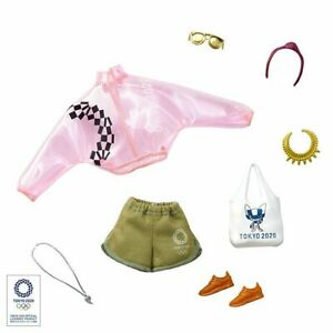 2020 Tokyo Olympic Games Barbie Fashion Pack. Jacket, Shorts & Accessories, NRFB