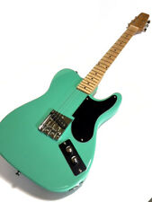 VINTAGE STYLE SNAKEHEAD TELE STYLE 6 STRING ELECTRIC GUITAR SEAFOAM GREEN