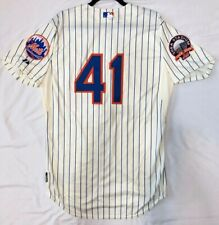 AUTHENTIC 44 LARGE TOM SEAVER NEW YORK METS MAJESTIC PINSTRIPE COOL BASE JERSEY
