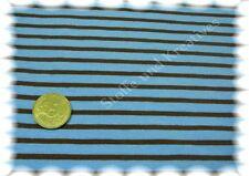 Campan Baumwoll Jersey Hilco türkis braun 50 cm Streifenjersey gestreifter Stoff